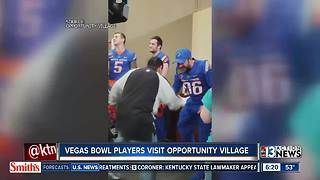 Teams competing in Las Vegas Bowl visit nonprofit - Video