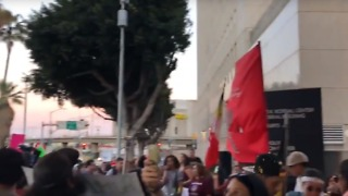Crowd Gathers Outside Los Angeles Detention Center to Protest Separation of Migrant Families - Video