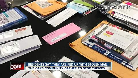 Residents say they are fed up with stolen mail