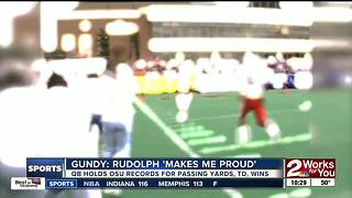 Mike Gundy: Mason Rudolph makes me proud - Video