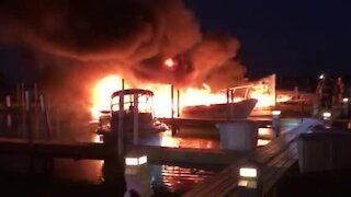 Fire reported at yacht club in Grosse Ile