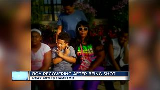 7-year-old shot while sleeping now recovering from surgery - Video