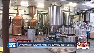 Local beer industry takes hit from government shutdown
