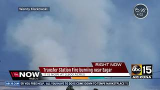 Wildfire burning in eastern Arizona scorched 2,500 acres - Video
