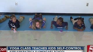 Yoga Class Teaching Students Self-Control - Video