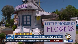 Flower shop hopes to reopen in time for Mother's Day
