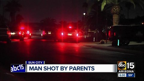 Valley man shot by parents