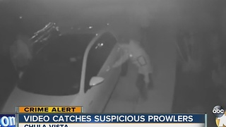 Surveillance cameras catch suspicious prowlers in Chula Vista - Video