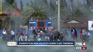 Students plan more walkouts during class Wednesday - Video