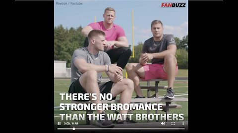 There's No Bromance Stronger Than the Watt Brothers