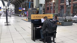 Piano Rings Out in Near-Empty Train Station as Rail Workers Strike - Video