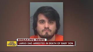 Largo father charged with manslaughter after 8-month-old dies in 109-degree mobile home - Video
