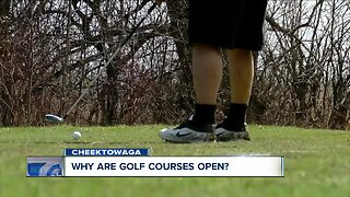 Why are golf courses open?
