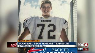 Football team honors student who died over the summer - Video
