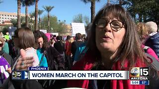 Thousands of women march on Arizona captiol - Video