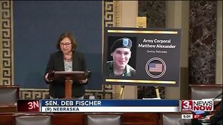 Sen. Fischer honors Cpl. Matthew Alexander - Video