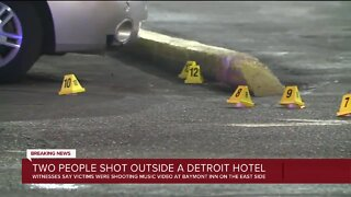Two people shot outside Detroit motel