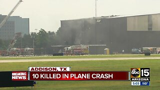 10 killed in plane crash in Texas