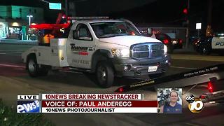 Woman hit, killed by tow truck in Oceanside - Video