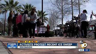 Activists protest recent ICE sweep - Video