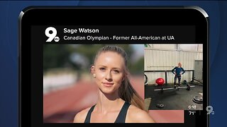 Sage Watson now training at home