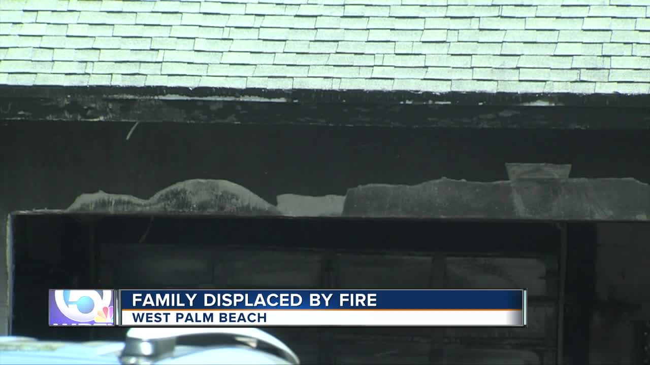 Family displaced by fire in West Palm Beach