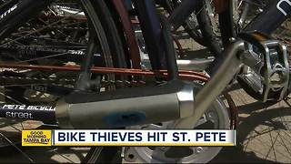 Watch your wheels: Bike thieves hit St. Pete hard - Video
