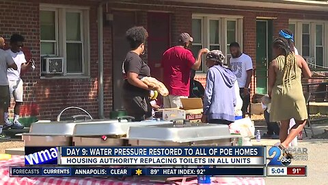 Day 9: Water pressure restored to all Poe Homes