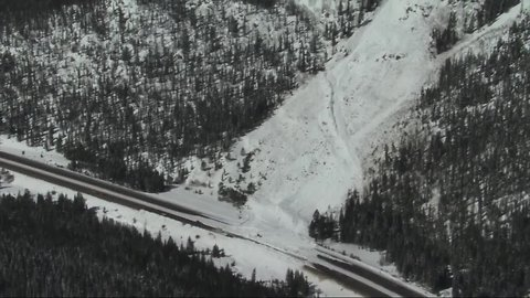 Chopper video shows multiple avalanches covering Colorado highways Tuesday