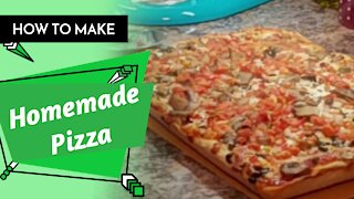 How To Make The Best Homemade Pizza From Scratch/ Rebecca's Kitchen