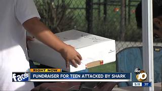 Fundraiser for teen attacked by shark in Encinitas