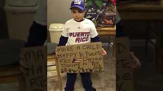 Kid Holds Toy Drive for Children Affected by Hurricane in Puerto Rico - Video