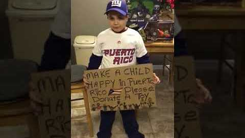 Kid Holds Toy Drive for Children Affected by Hurricane in Puerto Rico