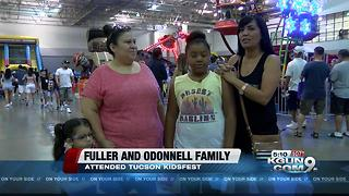 Families escape the heat with an indoor festival - Video