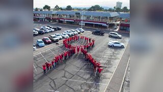 World Aids Day: World's largest human red ribbon