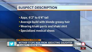 Strange man tries to grab girl at Edison Mall - Video