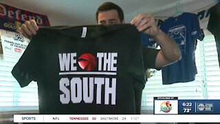 Tampa Bay sports fan, T-shirt designer welcomes Toronto Raptors to the south