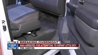 Police: Man grabbed boy, tried to hide him in truck in kidnap attempt - Video