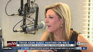 Tricia Kean guest hosting on Suny 106.5 - Video