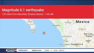 6.1 magnitude earthquake off Baja