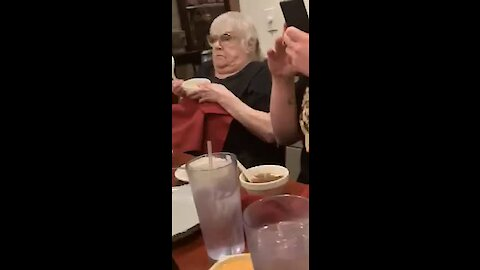 Grandma has her mind blown watching Hibachi for the first time