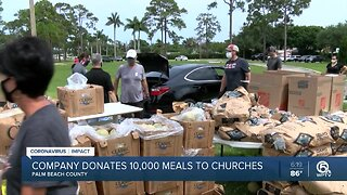 South Florida company donates 10,000 meals to hungry families