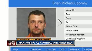 Man accused of posing as a contractor captured out of state - Video