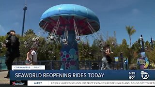 SeaWorld reopening rides today