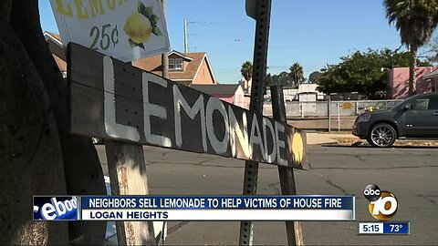 Neighbors sell lemonade to help Logan Heights fire victims