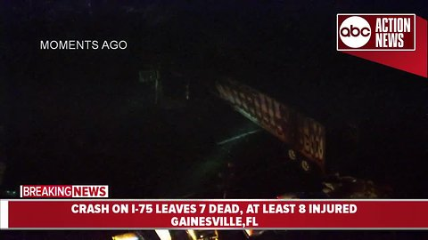 Action Air 1 over scene of fiery fatal crash on I-75