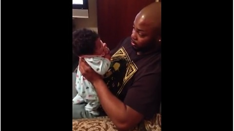 Adorable Baby Engages In A Hilarious Argument With Daddy