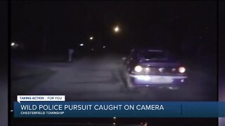 Wild police pursuit caught on camera
