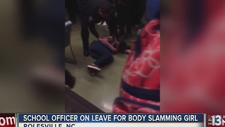 School resource officer body slams girl - Video