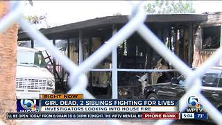 Death investigation after fire kills child - Video